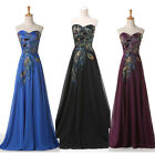 FREE P&P Peacock Vintage Mother Bride Cocktail Evening Wedding Gowns Ball Dress