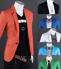 Hot Mens Slim Fit Coats Casual Formal Suits Blazers Jackets Business Spring Tops