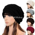 New Unisex Ladies Women Knitted Winter Warm Ski Slouch Oversized Beanie Cap Hat