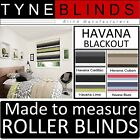 BLACKOUT ROLLER BLINDS - straight edge striped Louvolite Havana made to measure