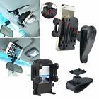 Car Sun Visor Clip Mount Phone Holder For iPhone 5s/6 Galaxy S4 S5 HTC One M7 M8