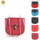 CHAIN LOCK SADDLE BAG Women's 2015 Hot Trend Designer Fashion Shoulder Handbag