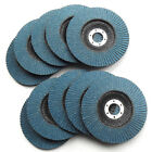 "10PC 100mm 4"" ZIRCONIA FLAP DISC WHEEL, For Angle Grinder Metal Grinding Sanding"
