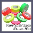 Fluro Cloth Tape 48mm x 25m Premium Heavy Duty Bright Gaffer Cloth Tape