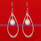 Genuine 9mm Freshwater Cultured Pearl Drop Earrings | FJUS
