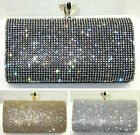 Diamante Clutch Bag Evening Wedding Bridal Party Prom Chain Purse BB1442