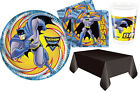 Batman Party Set 8 16 24 32 Birthday Plates Napkins Cups and Tablecover DC Comic