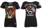 AFFLICTION Womens T-Shirt MEXICO Cain Velasquez Fight Biker Gym MMA UFC S-XL $58