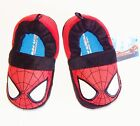SPIDER-MAN MARVEL COMICS Glow-in-the-Dark Plush Slippers NWT Toddler's Size 7/8