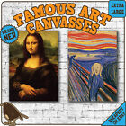 Famous Painting CANVAS ART PRINTS - Classic Mona Lisa Scream Da Vinci Hockney