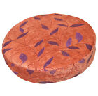 wh05r Red-Brown,Embroidered Chenille Round box Shape Sofa Seat Cushion COVER
