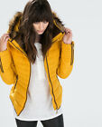 Zara *mustard Yellow Short Anorak With Fur Collar* New_size_xs_s_m_l_xl_xxl