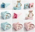 Luxury DIY Boys Girls Wedding Christening Baby Shower Favour Gift Boxes Teddy