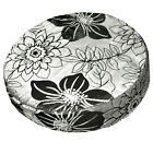 *Limit Stock*Mq02r Metallic Lily Gray Black Velvet Round Box Cushion Cover Case