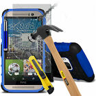 Shockproof Dual Layer Heavy Duty Case Cover & Glass For HTC One M9