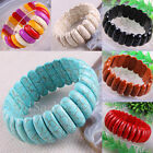 """Free Shipping Multi-color Sandstone Turquoise Beads Stretch Bracelet 8"""" 1Pcs"""