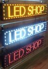 LED SCROLLING DIGITAL PROGRAMMABLE MOVING MESSAGE SIGN DISPLAY+ FREE HANGING KIT