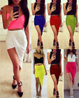 Womens Sexy Wrap Skirt Ladies Fitted Stretch Jersey Gypsy Long Maxi Dress Skirt