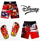 DISNEY CARS McQUEEN Swim Suit Trunks w/Optional Flip Flops Toddlers 2T, 3T or 4T