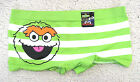 NEW Sesame Street Boy Shorts for Juniors Oscar the Grouch Green White Stripes