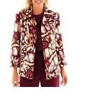 Alfred Dunner Jacket Circle Oaks Abstract Print women's size 8, 10, 10P NEW