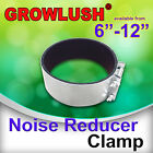 """4""""-12"""" Noise Reducer Clamps (x2) for hydroponics duct fan carbon filter silencer"""