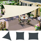 Patio Garden Sun Shade Sail Yard Canopy Awning 98% UV Block Waterproof Cream