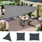 Patio Garden Sun Shade Sail Canopy Awning 98% UV Block Waterproof Anthracite