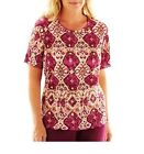 Alfred Dunner Top Circle Oaks Medallion Accordion women's size PS, S, PM, PL NEW