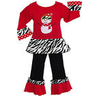AnnLoren Girls Frosty the Snowman Christmas Outfit 6/9 mo-9/10