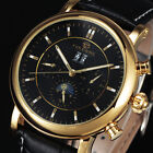 New Fashion Success Men With Date Day Automatic Mechanical Watch Leather Strap S