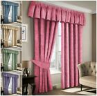 Plain 100% Cotton Curtains Thermal Fully Lined Light Reducing Curtains Readymade