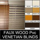 FAUX WOOD - PVC Venetian Blinds - wood effect blinds made to measure