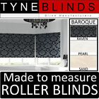Louvolite BAROQUE damask pattern ROLLER BLINDS - straight edge made to measure