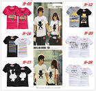 MEN WOMEN Beach Short Sleeves Casual Cotton Top Soft Style T-Shirt Summer