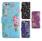 Vintage Leather Rose Floral Paisley Wallet Case Cover for New iPhone SE 6 5C 5 4