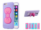 Silicone 3D Butterfly Bow Shell Case Cover Stand Holder For iPhone 5/5S/6/6 Plus