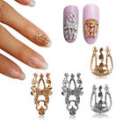 10pcs 3D Nail Art Stickers Alloy Gold&.Silver Hollow Out Slices DIY Accessories