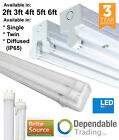 T8 LED Ready Batten Fittings Single and Twin Strip lights 2ft 4ft 5ft 6ft - IP65