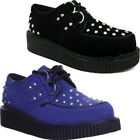 Womens lace up brothel creeper studd round toe platform ladies shoes