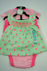 Carter's Carters NEW Girls 3 Piece Set Top Shorts And Striped Short Sleeve Vest