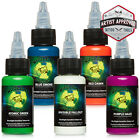 MOMs Millennium Nuclear UV Blacklight Tattoo Ink - 5 Color Set