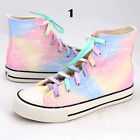 Women Galaxy Space Universe High Top Shoes Boots Trainer Sneaker Canvas Plimsoll