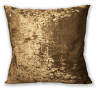 Mv10a Lt.Brown Gold Diamond Crushed Velvet Cushion Cover/Pillow Case Custom Size