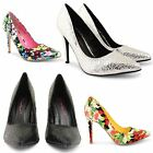 WOMENS HIGH HEELS POINTED TOE PUMPS LADIES DOLCIS CASUAL PARTY COURT SHOES SIZE
