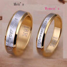 New Arrival Jewelry Fashion Women Men Steel Couple Rings 80% Silver Size 6-10