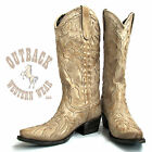 Lane Womens Poison Boots in Distressed Bone LB0008F