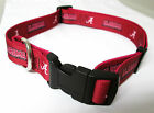 ALABAMA CRIMSON TIDE ADJUSTABLE SOFT NYLON DOG COLLAR