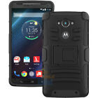 For Motorola Droid Turbo XT1254 Hybrid Rugged Stand Case Cover Belt Clip Holster
