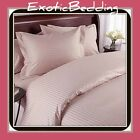 1500 Thread Count 4-Piece Egyptian Cotton Sheet Set - Blush Stripe